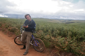 Mountainbiken in Nyika NP, Malawi